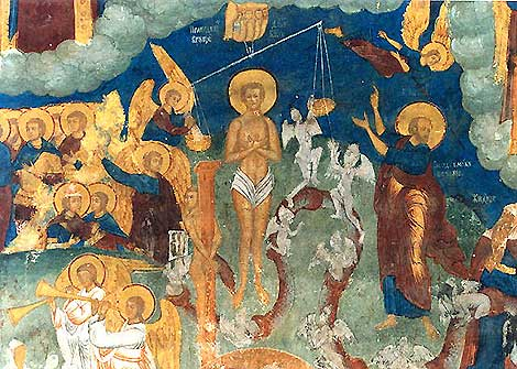 Фрагмент фрески Страшный Суд. Ярославль.