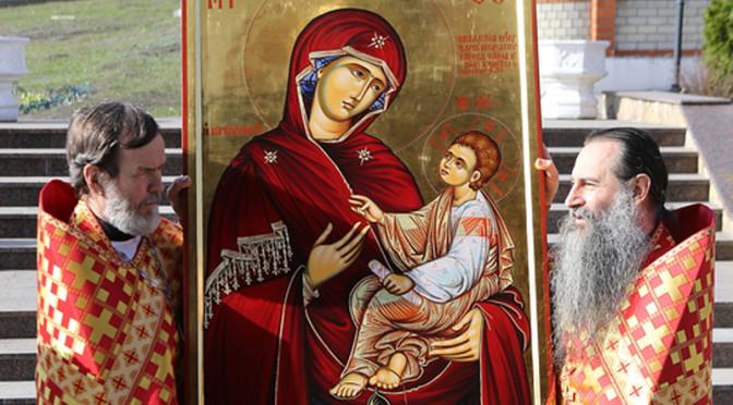 В Свято-Алексиевский монастырь принесена икона со Святой Горы Афон