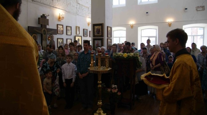 Празднование в день памяти святых равноапостольных Мефодия и Кирилла