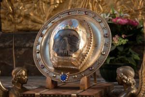 Передняя часть главы святого Иоанна Предтечи в кафедральном соборе Пресвятой Богородицы г. Амьена.