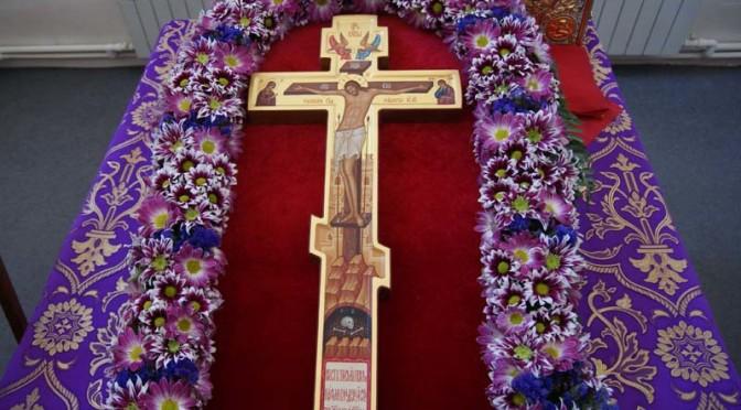 Богослужение в канун праздника Животворящего Креста