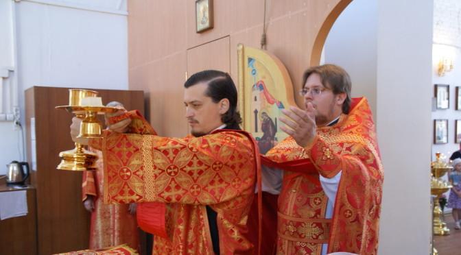 Божественная литургия в день празднования Рождества Иоанна Крестителя