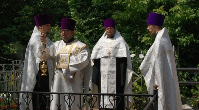 Панихида на могиле епископа Вениамина (Милова)