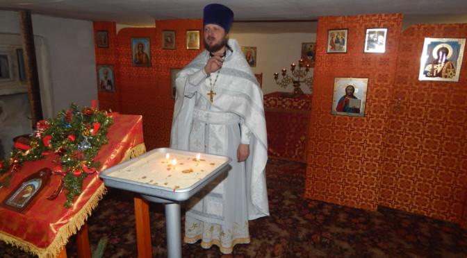 Клирик нашего храма совершил Рождественские богослужения на сельском приходе