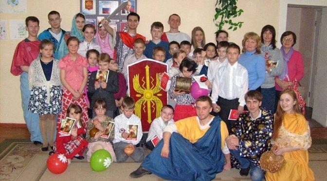 Члены молодежного клуба «Ладья» стали участниками Пасхального представления