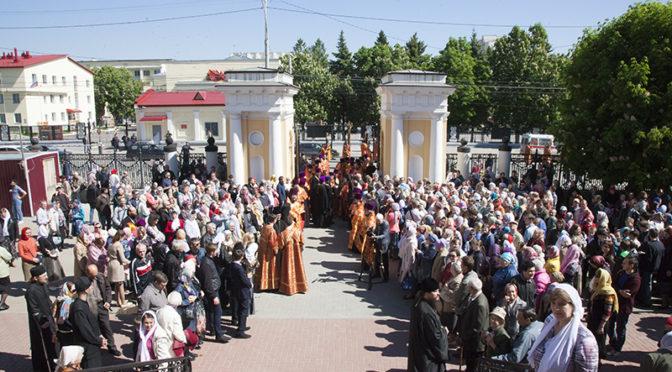 Клирики и прихожане храма приняли участие в торжествах в День памяти свв. Кирилла и Мефодия