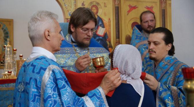 Божественная литургия в день Успения Божией Матери