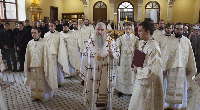 Настоятель нашего храма сослужил Митрополиту Лонгину за Божественной литургией по чину апостола Иакова