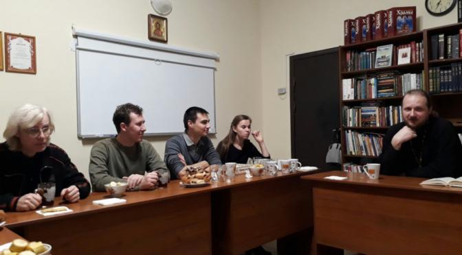 Собрание молодежного клуба «Ладья»