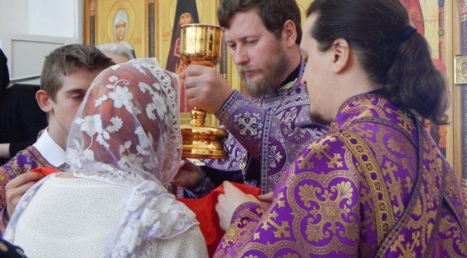 Божественная литургия в Неделю 5-ю Великого поста, преподобной Марии Египетской