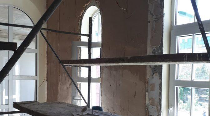 Внутренние работы в помещении Воскресной школы