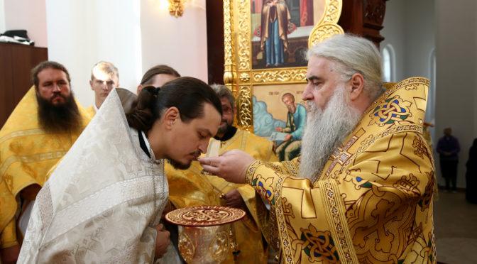 Клирик храма рукоположен в священный сан