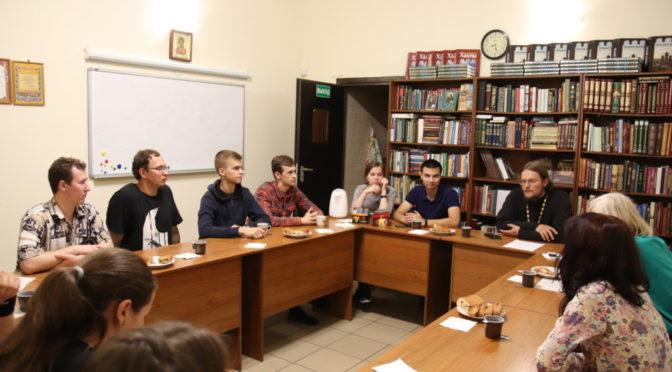 Встреча в молодежном клубе «Ладья»