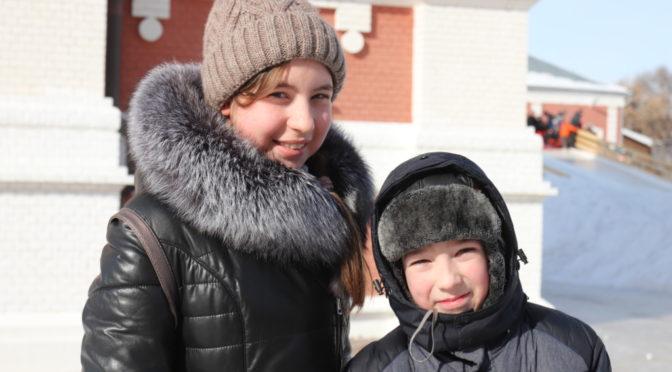 Зимний праздник в Покровском храме