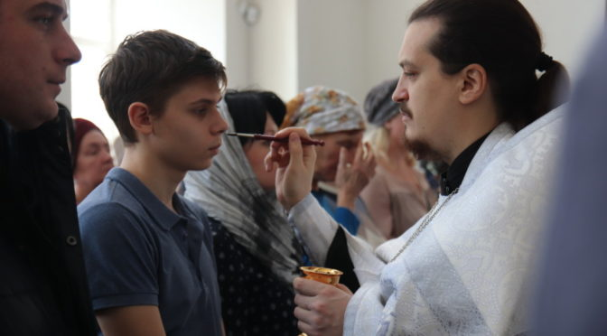 В храме состоялось Соборование