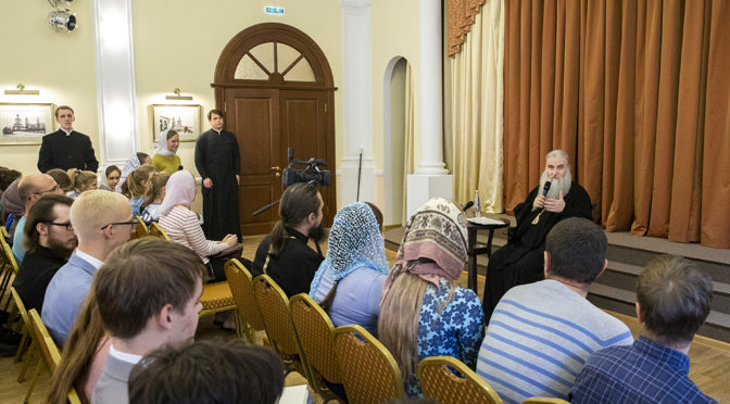 Активисты «Ладьи» побывали на встрече Митрополита Лонгина с православной молодежью Саратова