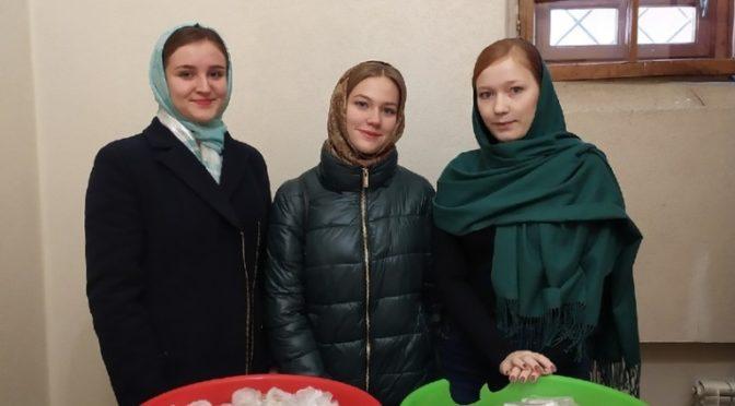 Активистки «Ладьи» приняли участие в акции «Добрые блины»