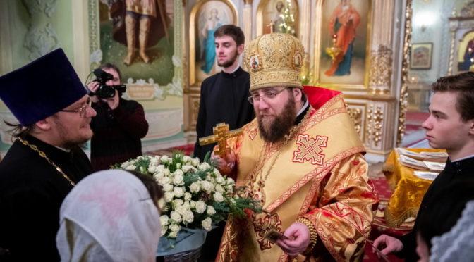 Настоятель сослужил Митрополиту Игнатию на Великой рождественской вечерне