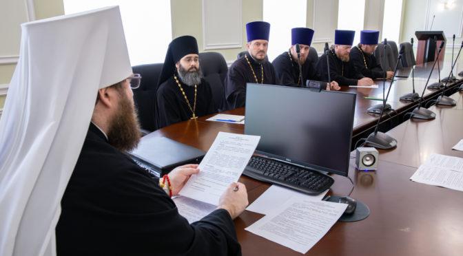 Настоятель принял участие в работе Епархиального совета